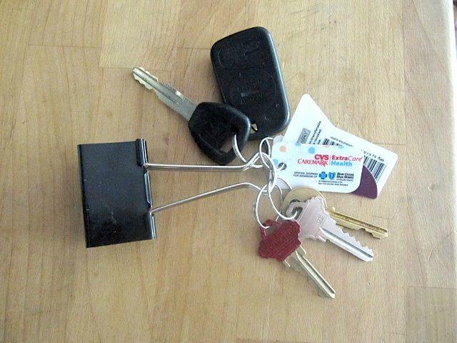 Binder clip key