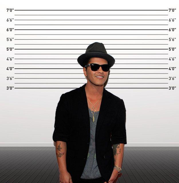 Bruno Mars cuma 165 cm