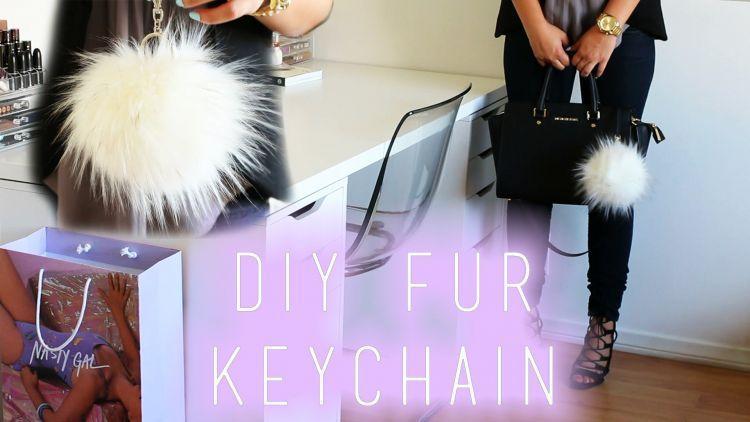 Fur keychain bikinan sendiri