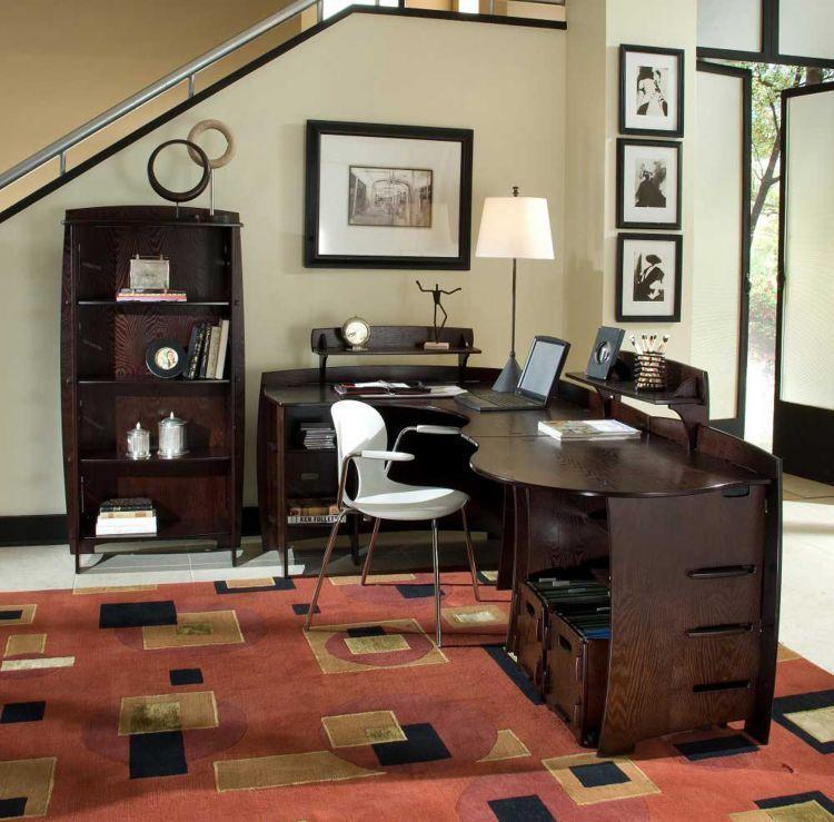 Warna coklat pada perabotan memberikan kesan modern