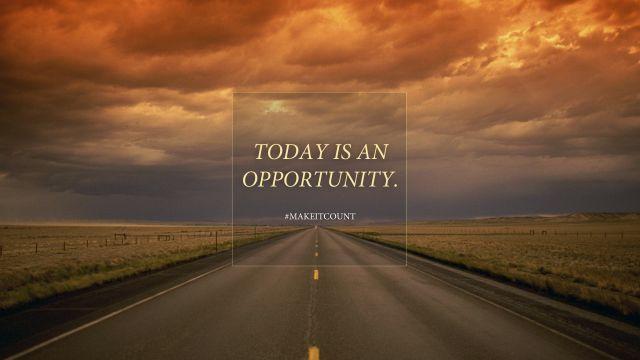 setiap kesempatan adalah tanggung jawab