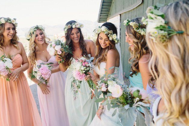 pastel wedding decoration