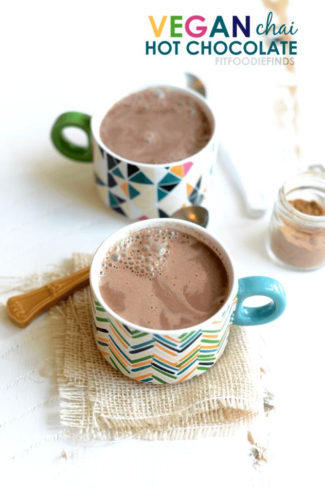 Chai tea hot chocolate yang ramah vegetarian