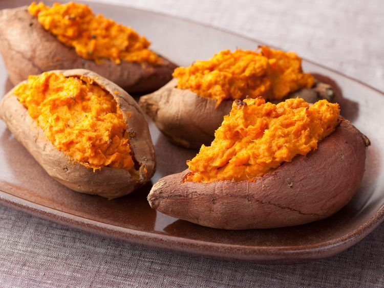 Twice Baked Sweet Potatoes; The Neelys