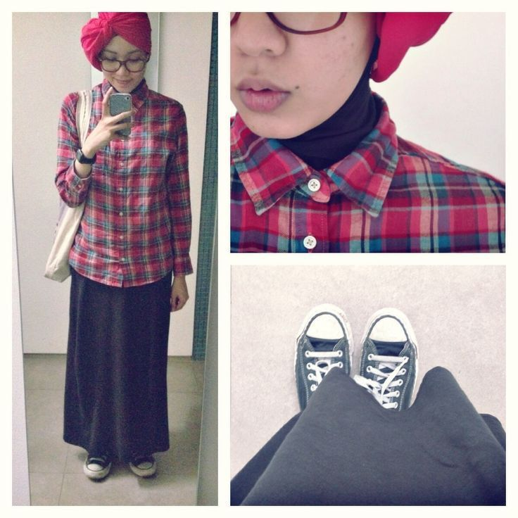 Flanel+ sneakers. Classy