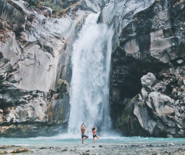 Namaste at Mangku Sakti Waterfall