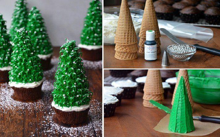 cupcake pohon natal