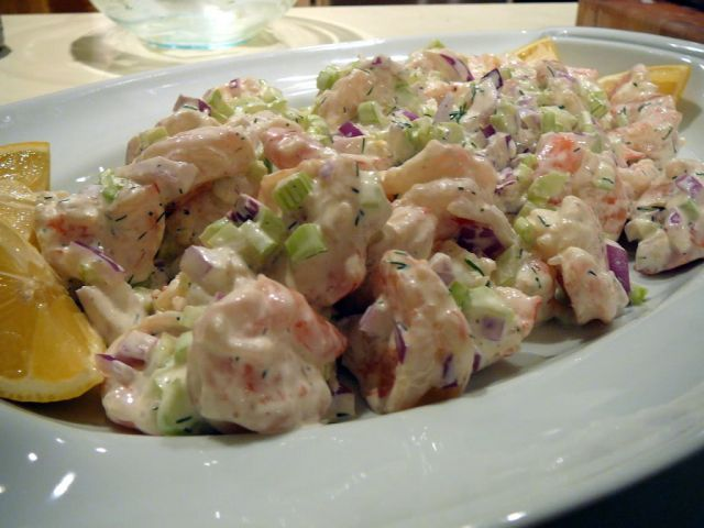 shrimp salad with mayo