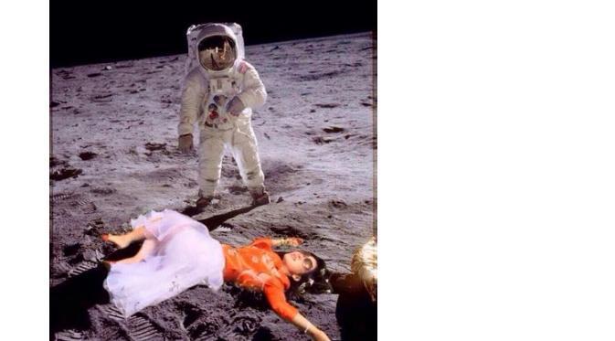 Syahrini udah bobok cantik di bulan