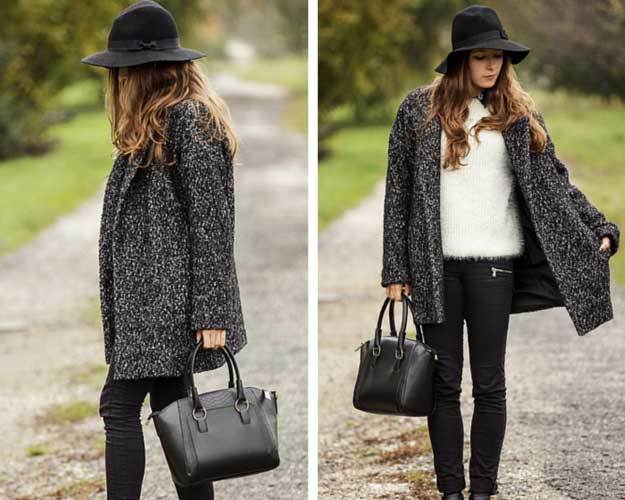 padukan dengan sweater hitam putih