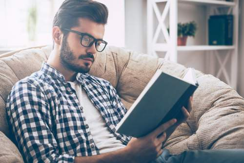 Guy Reading Book