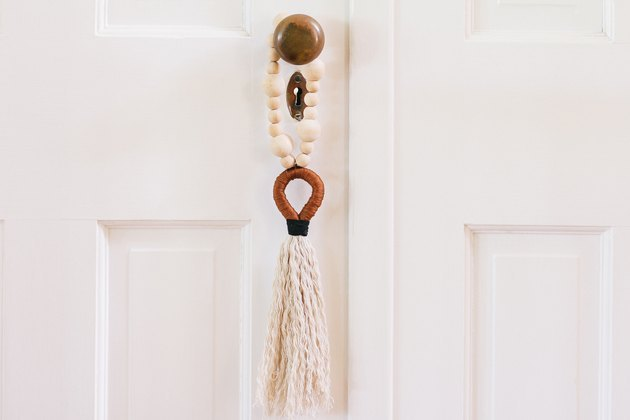 Gantungan handle pintu boho rumbai