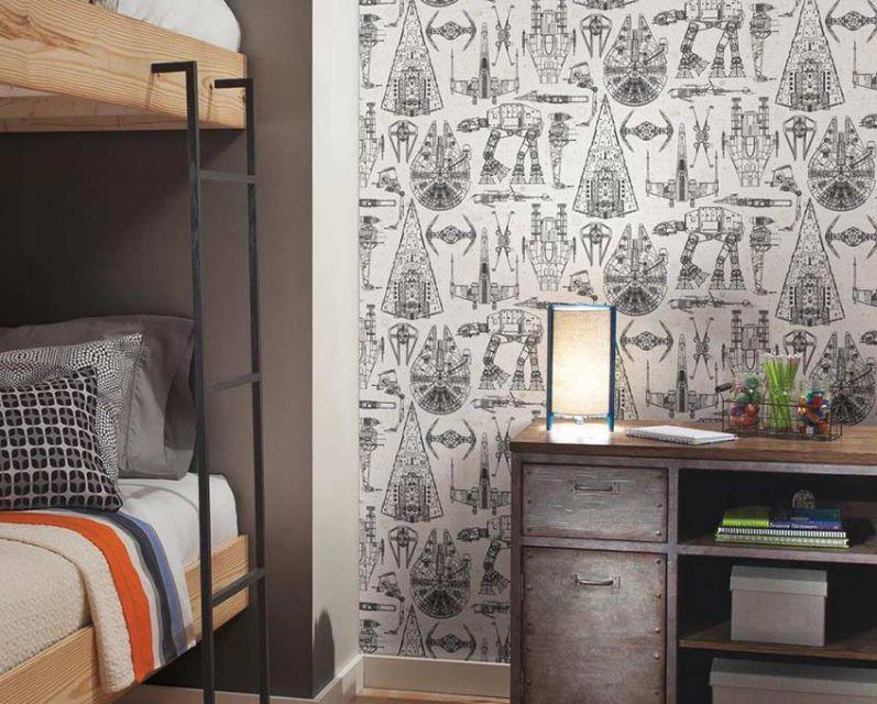 Dekorasi wallpaper mempertegas tampilan industrial
