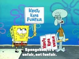 Spongebob dan Squidward berdemonstrasi