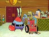 Tuan Krab dan Plankton di pengadilan