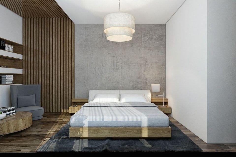 Kamar Tidur Unfinished dengan Nuansa Natural