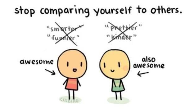 Stop membandingkan dirimu dengan orang lain
