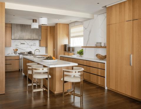 Dapur Dengan Dominasi Kayu