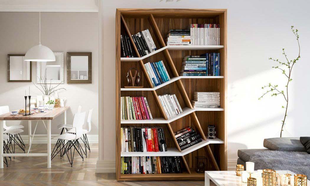 6 Inspirasi Desain Rak Buku Simpel Dan Unik Bikin Ruang Keluarga Jadi Makin Cantik
