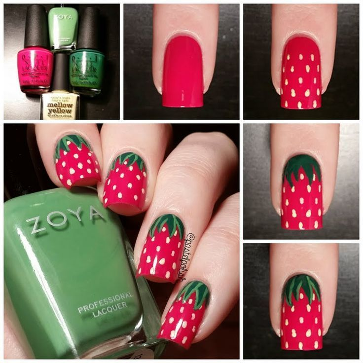 strawberry nail arts yummy...