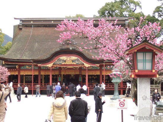 Tutup perjalanan di Kuil Dazaifu