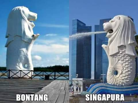 Patung Merlion Bontang. Kalimantan