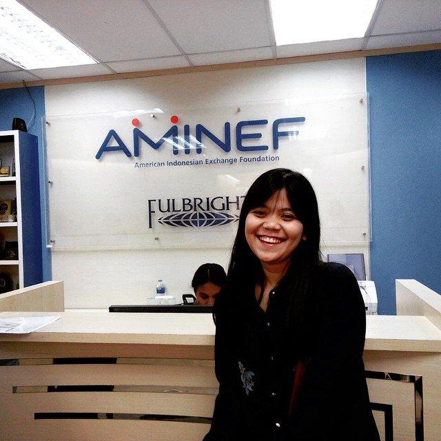 Ini dia salah satu penerima beasiswa AMINEF