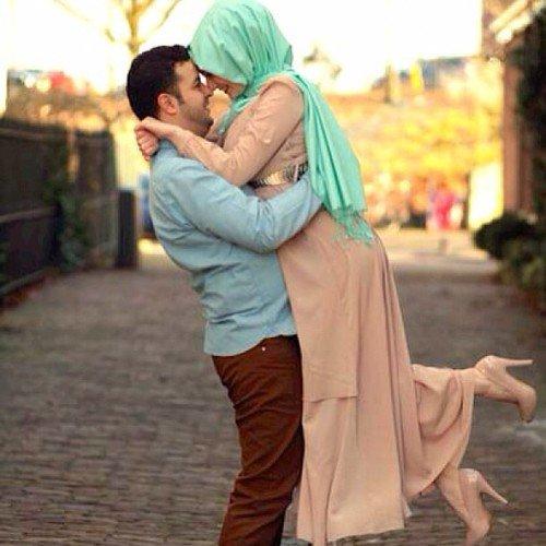 Hug Muslim Couples