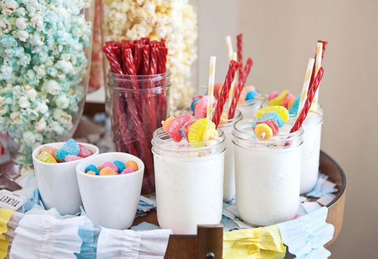 candy vanilla milkshake