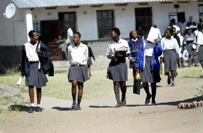 school girls in South Africa