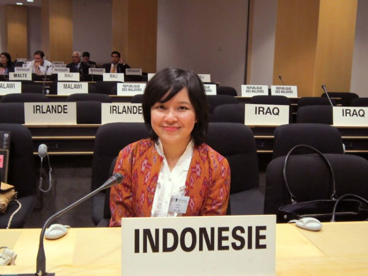 "Menjadi panelis di ""Global Youth: Leading Change"" session."