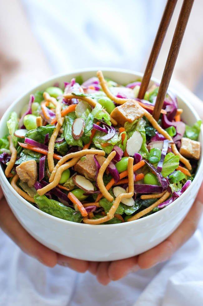 salad sayur dan mie enak banget!