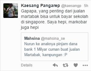 Diambil dari akun twitter @Kaesangp
