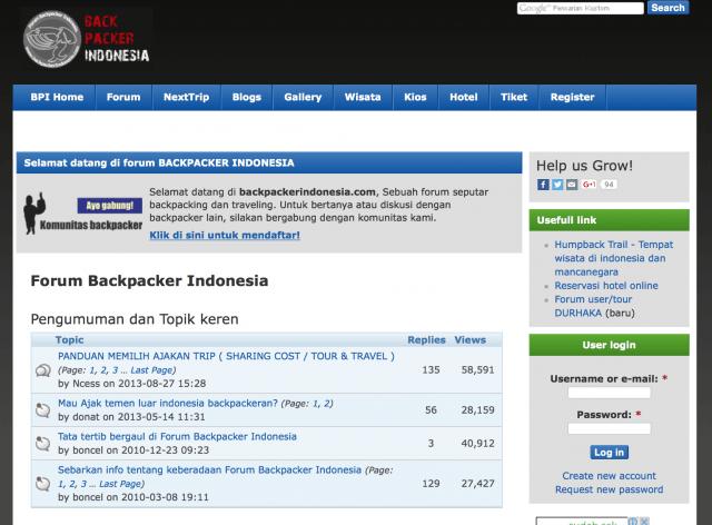 Homepage backpackerindonesia