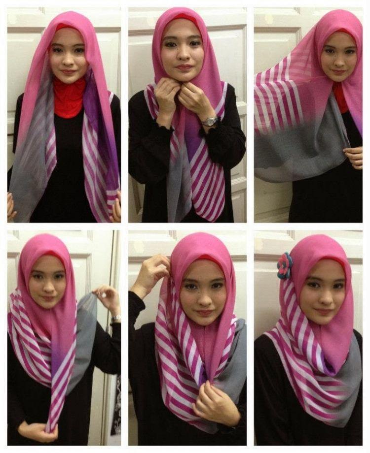 Gaya hijab yang beda tapi tetap mudah untuk kamu praktikan.