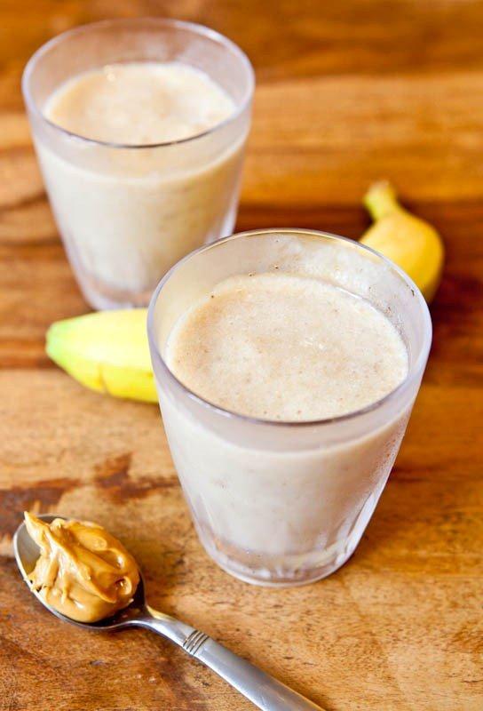 jus pisang dengan selai kacang