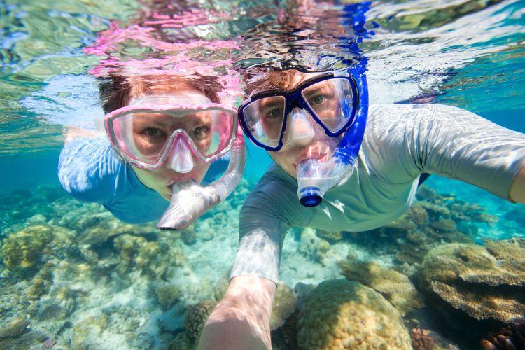 Sepasang alat snorkeling. Ntap!