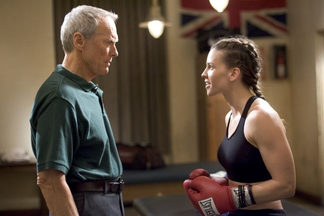 Clint Eastwood and Hillary Swank