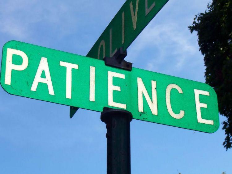 Jalan menuju ke kesabaran.