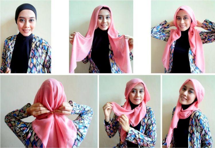 Kerudung paris yang bisa diaplikasikan untuk gaya hijab yang beda.