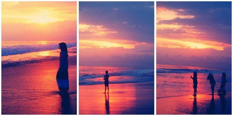 Pantai ini punya sunset yang romantis