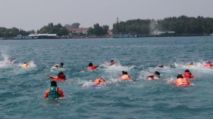 berenang di pulau