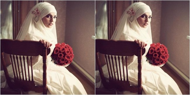 jilbab segi empat juga bisa