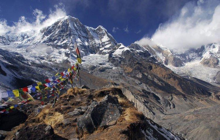 Pemandangan di Annapurna.