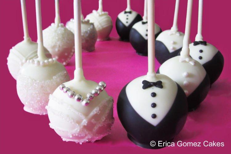 Wedding pop cake.