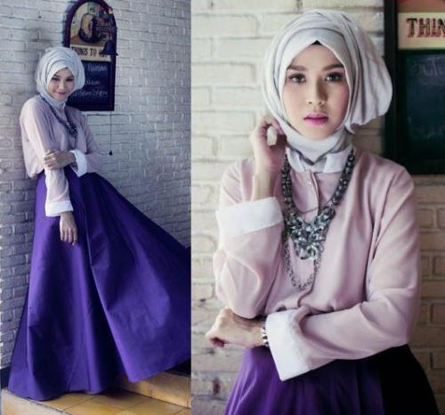 Warna ungu yang anggun cocok untuk dipakai di acara formal.