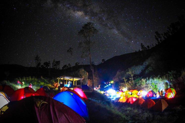 suatu malam di gunung rinjani