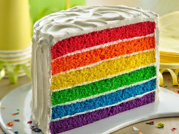 rainbow cake super enak!