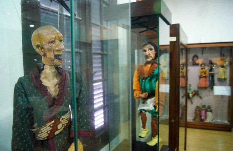 Salah satu penampakan manekin wayang di Museum Wayang.