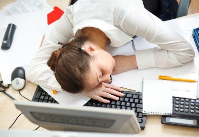 sleep when work.